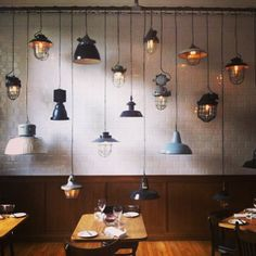 Industial lamp collections.