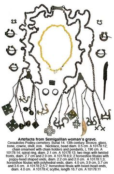 Finnish/Baltic/Slavic Jewelry, Semigallian 13th woman's grave.  While not precisely Viking, it does give a good example of how cultures around the Baltic Sea shared a similar aesthetic sense.