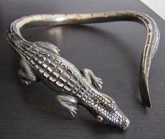 silver aligator necklace mexican - Google Search