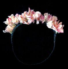 Pink flower crown #DIY
