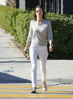 Hot Summer Sale: Alessandra Ambrosio out on a sunny day in J BRAND's 620 Mid-Rise Super Skinny in Ghost Rose. Shop our Limited Sale up to 40% off, ends 5/27.