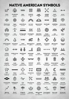 Native American Signs Art Print by Zapista OU