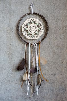 freenatives.etsy.com Large Handmade Dreamcatcher