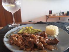 Almond Milk, Mustard, Pork, Cooking Recipes, Meat, Chicken, Kale Stir Fry, Cooker Recipes, Pigs