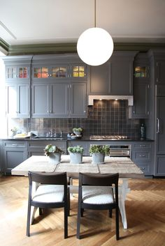 LOVE this kitchen. Colors and textures are great. Just want calcutta marble countertops for light.