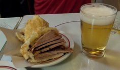 Sandwich of pork tenderloin and ananas, specialty of Cervantes Bar e Restaurante - Copacabana, Rio de Janeiro.