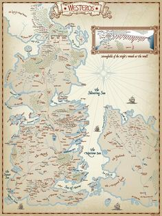 This Map Shows Westeros Land Of The Seven Kingdoms And The - 50 incredible maps will change see world