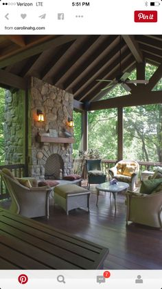 Love this fireplace stone layout