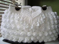 Marvelous Crochet A Shell Stitch Purse Bag Ideas. Wonderful Crochet A Shell Stitch Purse Bag Ideas. Crochet Backpack, Bag Crochet, Crochet Shell Stitch, Crochet Fabric, Fabric Yarn, Crochet Cross, Crochet Bear, Crochet Handbags, Crochet Purses