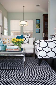 Living room | Wythe Blue Benjamin Moore | House of Turquoise: Studio Ten 25