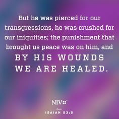 Jesus took the suffering we deserved, so that we might have eternal life. #NIV