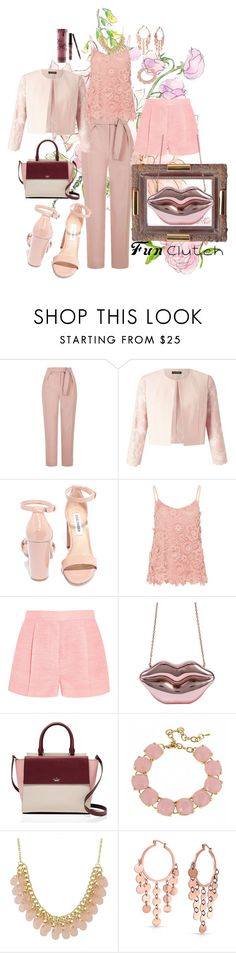 """Fun in the Nude"" by sholly-o ❤ liked on Polyvore featuring Topshop, Miss Selfridge, Steve Madden, Hallhuber, STELLA McCARTNEY, Kate Spade, Fornash, Bling Jewelry, Kylie Cosmetics and WorkWear"