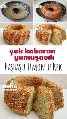 Squishy Sesame Poppy Lemon Cake (Very Rough) - Yummy .- Yumuşacık Susamlı Haşhaşlı Limonlu Kek (Çok Kabaran) – Nefis Yemek Tarifleri Squishy Sesame Poppy Lemon Cake (Very Rough) – Delicious Recipes, # Hashish - Yummy Recipes, Dessert Recipes, Cooking Recipes, Yummy Food, Desserts, Subway Cookie Recipes, Bon Dessert, Create A Recipe, Breads