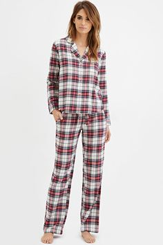 97757a639db Flannel PJ Set Plaid Pajamas