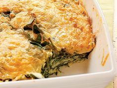 Amazing #vegetarian meal: Spinach-Cheese Bake http://www.ivillage.com/vegetarian-recipes/3-b-143744#