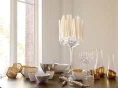 White (and gold) Christmas by West Elm.