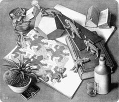 Reptiles by M.C. Escher. My favorite artist. Had this hanging in my room as a kid. This image helped foster my love of math.