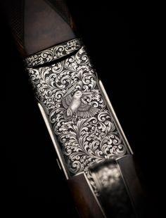 Tattoo Samples, Gun Art, Metal Engraving, Air Rifle, Hunting Rifles, Cool Guns, High Art, Clays, Gravure