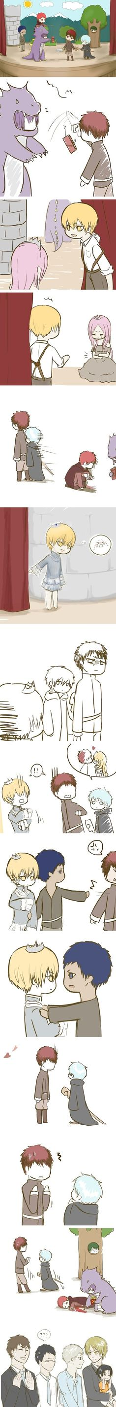 Mu-kun is dipping his french fries in Akashi's 'blood'~~ Hahhahaha he was an adorable monster~~~