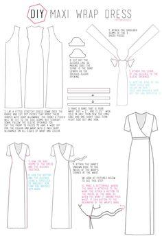 Cotton & Curls :: free tutorial - maxi wrap dress
