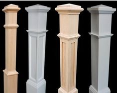 Premium Quality Newel PostsNewels can be cut to fit most rail height Well constructed newels Add elegance & value to your stairway with high quality newel posts Stair Railing Parts, Iron Stair Balusters, Iron Spindles, Deck Railing Design, Wrought Iron Stairs, Metal Stairs, Staircase Design, Staircase Ideas, Railings For Stairs