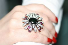 My creation, white gold, green tourmaline, pink tourmaline, diamonds