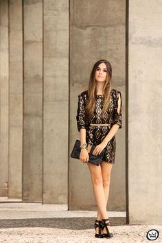 Fashion Coolture - Moikana #ootd #shineinblack #blackandgold #brilho #partydress