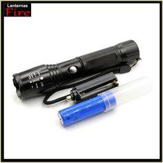 Self defense CREE XM-L T6 2000Lm focus adjustable 5 modes tactical hunting flashlight torch light lanternas + 18650 battery(China (Mainland))