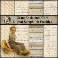 Free Digital Scrapbook Paper Pack: The Little Gleaner ⊱✿-✿⊰ Join 4,600 others follow the Free Digital Scrapbook board for daily freebies. Visit GrannyEnchanted.Com for thousands of digital scrapbook freebies. ⊱✿-✿⊰