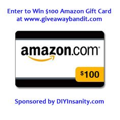 Gift Card Giveaway $100 Amazon DIYInsanity.com  Giveaway Bandit Pinterest Challenge. Enter to win cash and prizes!