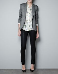 zara | single button blazer