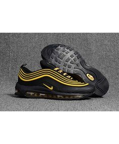 best authentic 3f2f5 3524c Men s Nike Air Max 97 KPU TPU Black Yellow Shoes Hot Sale Online