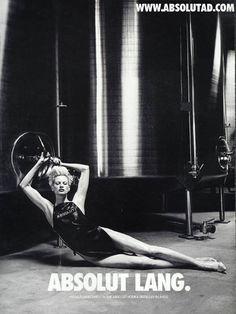 Absolut fashion ads shot by photographer Helmut Newton in… | FashionisGreat