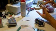 How to make Doll Tennis shoes part 7 Diane Morello - YouTube
