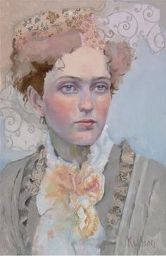 """Rose Bow"" - Original Fine Art for Sale - © Katie Wilson"