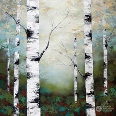 Forest landscape painting of birch trees and aspen trees in sunlight Giclee art print on canvas by c&; Forest landscape painting of birch trees and aspen trees in sunlight Giclee art print on canvas by c&; Diy Wall Painting, Abstract Landscape Painting, Painting Prints, Landscape Paintings, Knife Painting, Painting Gallery, Project Abstract, Abstract Trees, Art Gallery