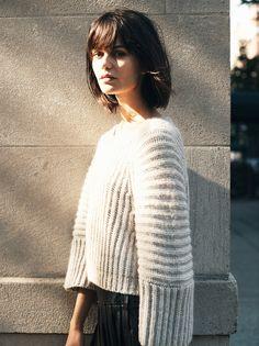 *Club Monaco sweater + leather skirt