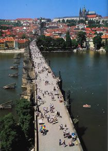 The Charles Bridge in Prague!