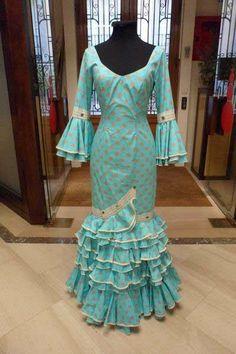Flamenco Dress Capricho Verde Agua T-38
