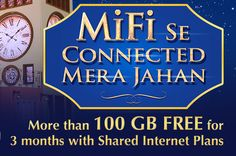 #Warid #MiFi internet at #LTE speed FREE for 3 months