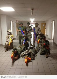 """poolee-espinal: """" erol-flynn: """" Group of Marines killing time during hurricane season. """" IS THAT A CLOWN """""""