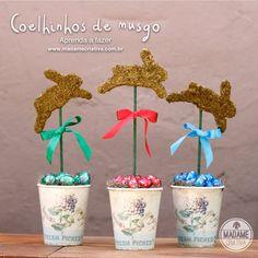 Como fazer coelhinhos de musgo-  Passo a passo com fotos - How make a bunny with moss - DIY tutorial  - Madame Criativa - www.madamecriativa.com.br