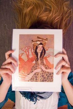 Giraffe Jacket  Fine Art Giclee Print by laurenmoyer on Etsy, $20.00 #giraffe #gift