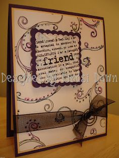hand stamped card