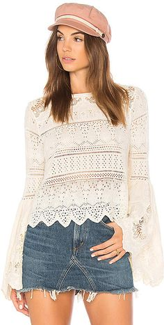 Free People Once Upon a Time Sweater #stylemusthave #womensfashion #bellesleeve #details