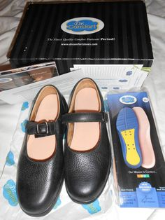 09d8dd3d069b Size 8 1 2 Wide Dr. Comfort BLACK MERRY JANE WOMENS Diabetic Footwear Shoe