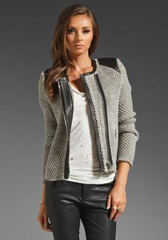 IRO Natasha Leather Shoulder Jacket in Beige at Revolve Clothing - Free Shipping!