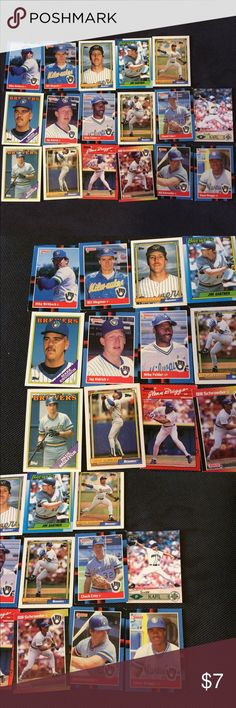 Milwaukee Brewers Baseball Cards Set Set of 17 Milwaukee Brewers baseball cards. In great condition. Players include Bill Schroeder, Jay Aldrich, Glenn Braggs, Jay Aldrich, and more. $8 for the set. Will NOT send out with postage stamp. Will only include tracking number.  Will ship out same day or next day. Want to bundle items? Just ask Accessories