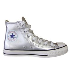 Silver converse high tops. Must have these when I go to the Moon.