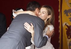 El príncipe Felipe y la princesa Letizia, muy enamorados